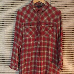 Madewell Plaid Shirt Dress